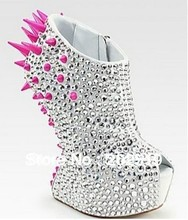 2013 Sexy heel less high heels spike shoes fashion lady shoes free shipping(China (Mainland))