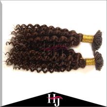 Бесплатный Shippng 8A подсказка странный вьющихся бразильский человека дева волос кератин Prebonded кончик ногтя наращивание волос 50 г S256