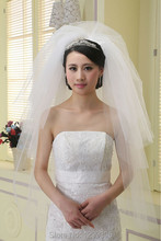Best Selling 2015 Newest 3 Layer Wedding Bridal Veil With Comb Fast Shipping Cut Edge White Ivory Accessories In Stock(China (Mainland))