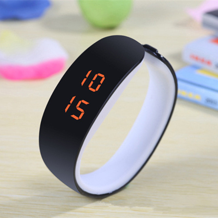 Hot Fashion Men Candy Silicone Strap Square Dial Digital LED Waterproof Sport Wrist Watch Women Kids Watches relogio feminino(China (Mainland))