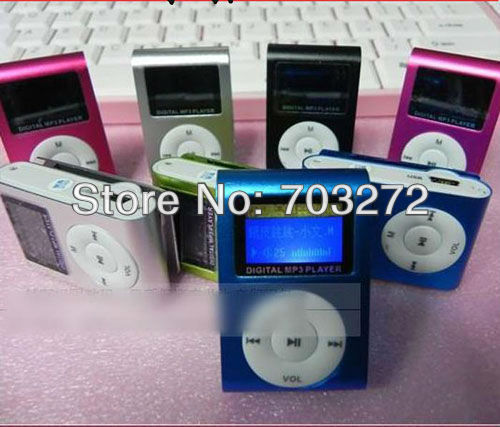 the lowest price!Clip mp3 player with screen,card slot support 1~16GB TF card, mini mp3 player built in FM funtion free shipping