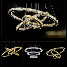 Modern Chandelier LED Crystal Ring Chandelier Ring Crystal Light Fixture Light Suspension Lumiere LED Lighting Circles Lamp(China (Mainland))
