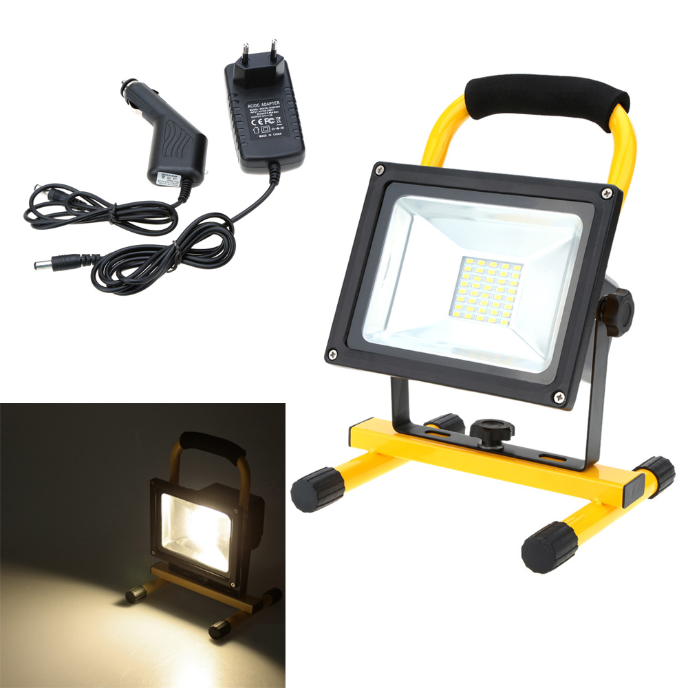 Portable floodlight 20w 30w ac85 265v work rechargeable for Outdoor motion sensor light not working