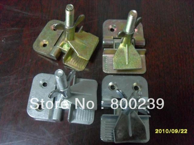 Hinge clamps for screen printing