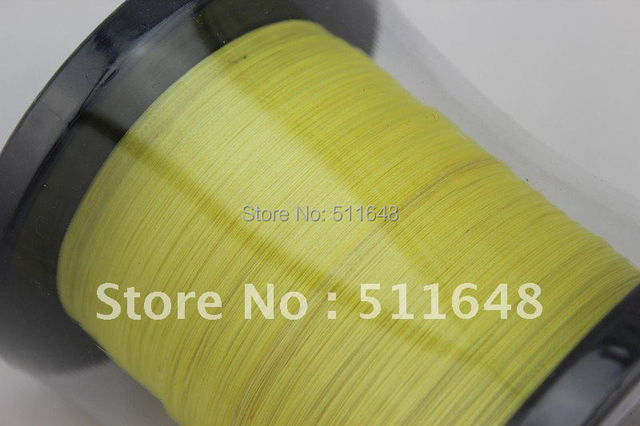 Free Shipping 1000M/PCS 15LB PE Braid Fishing Line YELLOW