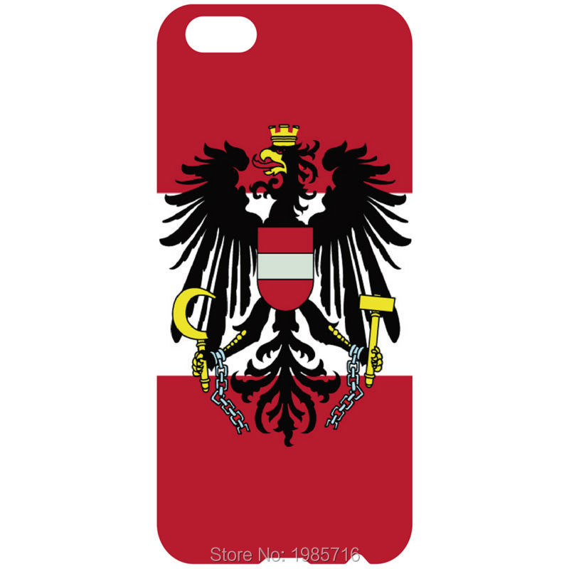 Austria flag case cell phone fashion hard back cover for iphone 4 4S 5 5S 5C 6 6s 6plus forsamsung s7 s6 s5 s4 s3(China (Mainland))