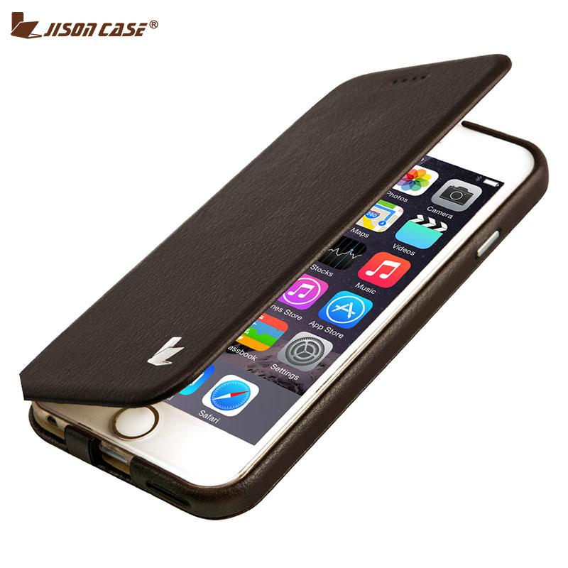 Jisoncase Capa For iPhone 6 6s Fundas Phone Case Stand Luxury Leather Folding Folio Protective Fashion Phone Bags & Cases(China (Mainland))