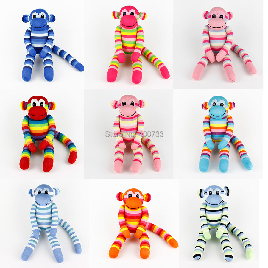 37CM Tall Baby Birthday Gifts handmade DIY stuffed sock animals doll baby toys Traditional Big Monkey Christmas New Year - Honey's Art --Wedding and store