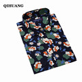 QIHUANG 2017 Hot Sale Women Plus Size Blouse Causal Floral Long Sleeve Shirt Brand Clothes Female