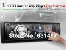 "3"" 1 Din Radio Car DVD Player Touch Screen Detachable Panel Bluetooth Subwoofer Mp3 CD palyer Single Din Car Radio Stereo(China (Mainland))"