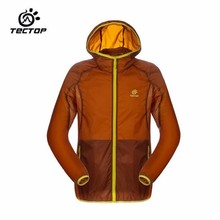 TECTOP 2016 New Men Outdoor Sunscreen Uv Skin Coat Lovers Camping Hiking Ultrathin Breathable Windbreaker Waterproof Jacket
