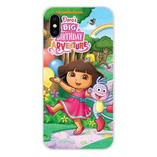 Voor Xiaomi Redmi 4A S2 Note 3 3S 4 4X5 Plus 6 7 6A Pro Pocophone F1 dora De Explorer Laarzen Cartoon Transparante Soft Skin Cover(China)