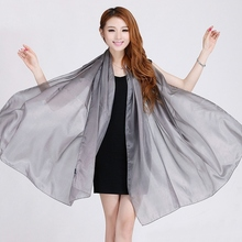 Ladies Brand Grey Mulberry Silk Scarf Shawl 180*110cm Oversize Design Female Scarves Wraps Summer Sunshade Shawls Khaki Black(China (Mainland))