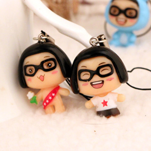 1188 doll mobile phone lovers bags accessories mobile phone chain lanyard 3.5cm