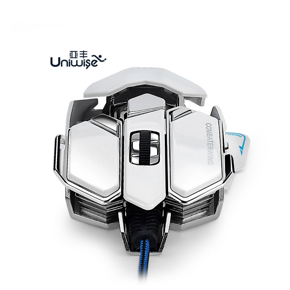 Brand New Cool USB Wired Optical Mouse 4800 DPI 10 Keys Professional For E-sports & Computer Game(China (Mainland))