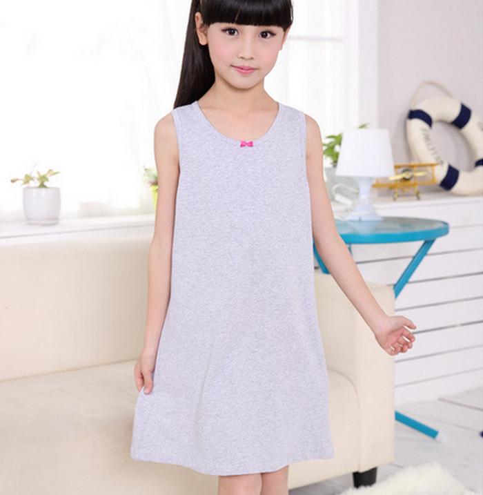 Nightwear Cotton Nightgowns Nightdress Kids Sleepwear Camisones Ropa de dormir Roupa de dormir cartoon pattern 4-8Y(China (Mainland))