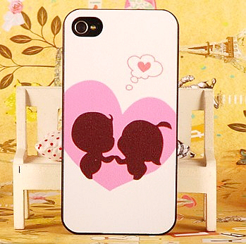 Lovers love dream aesthetic colored drawing shell for iphone 4 4s protective case for apple phone case