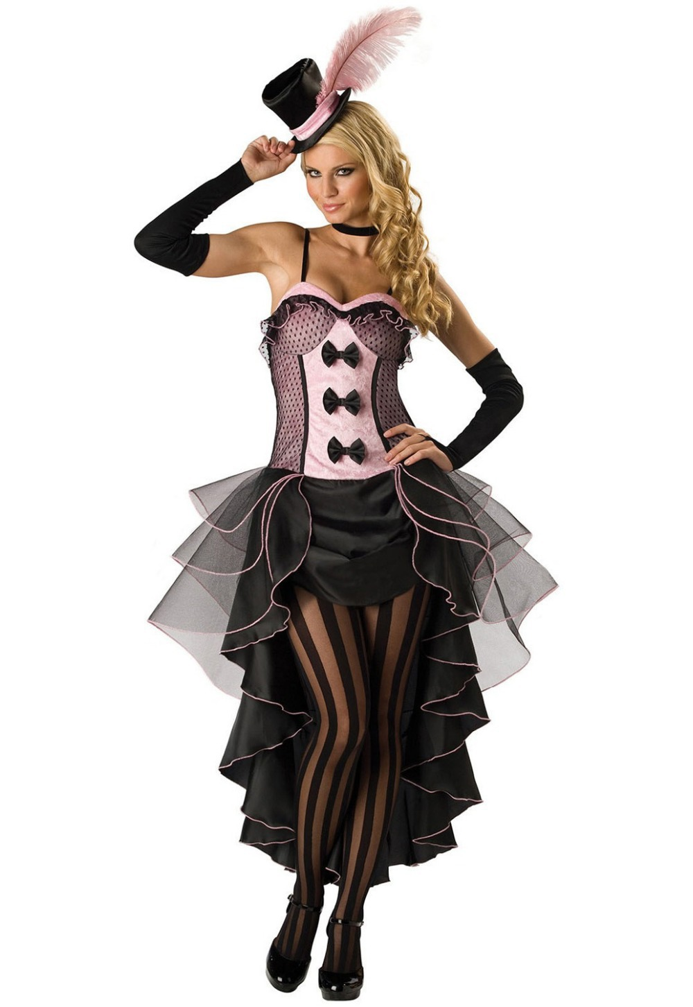 4PC/Set New Arrival Woman Halloween Costume High Quality Burlesque Beauty Costume Sexy Saloon Girl Can Can Fancy Dress 8822(China (Mainland))