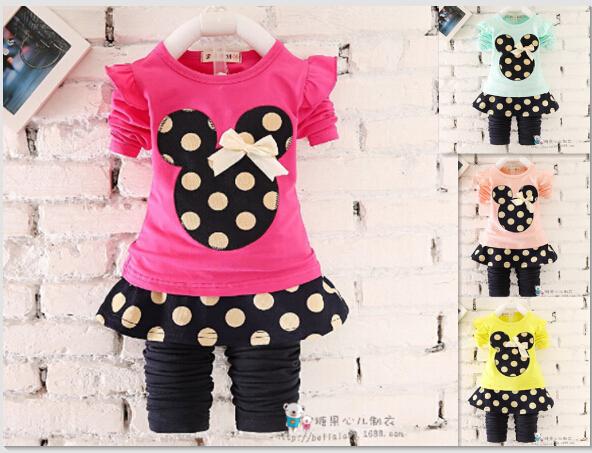 2016 New Baby Girls clothing Sets Spring Autumn Children clothes Set kids sport suit set girls Tracksuit set Children 2pcs Suit(China (Mainland))