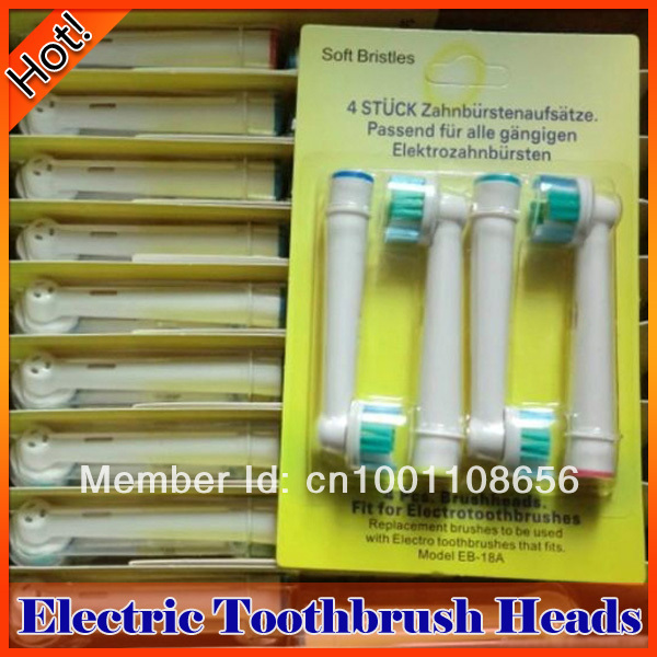 2400pcs Wholesale Pro Bright 3D White Soft Bristle Electric Toothbrush Heads Fit For Electronic Toothbrush(China (Mainland))