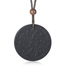Quantum Scalar Energy Bio Science Pendant Necklace for Men Dog Tag Japanese Technology Volcanic Lava Radiation Protection Jewels(China)