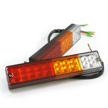 Universal 1Pair High Quality Truck LED Taillights 12V Or 24V  Light Color Waterproof(China (Mainland))