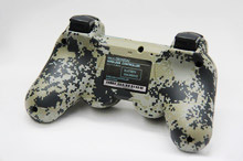 Matte Unique Camouflage Dual Vibration Shock 6 Axis Bluetooth Wireless Controller for SONY PS3 controllers Gamepads(China (Mainland))