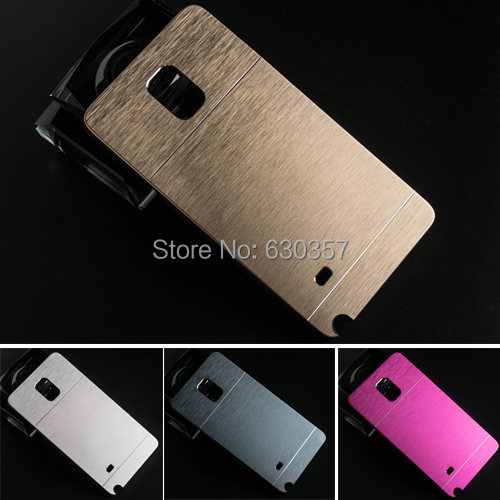 Luxury Metal Brush Aluminum+PC Material Hard Case for Samsung Galaxy Note 4 note4 back cover phone Cases(China (Mainland))