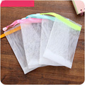 4pcs lot wholesale facial body bath cleansing foam to wash double layer bubble foam net bag
