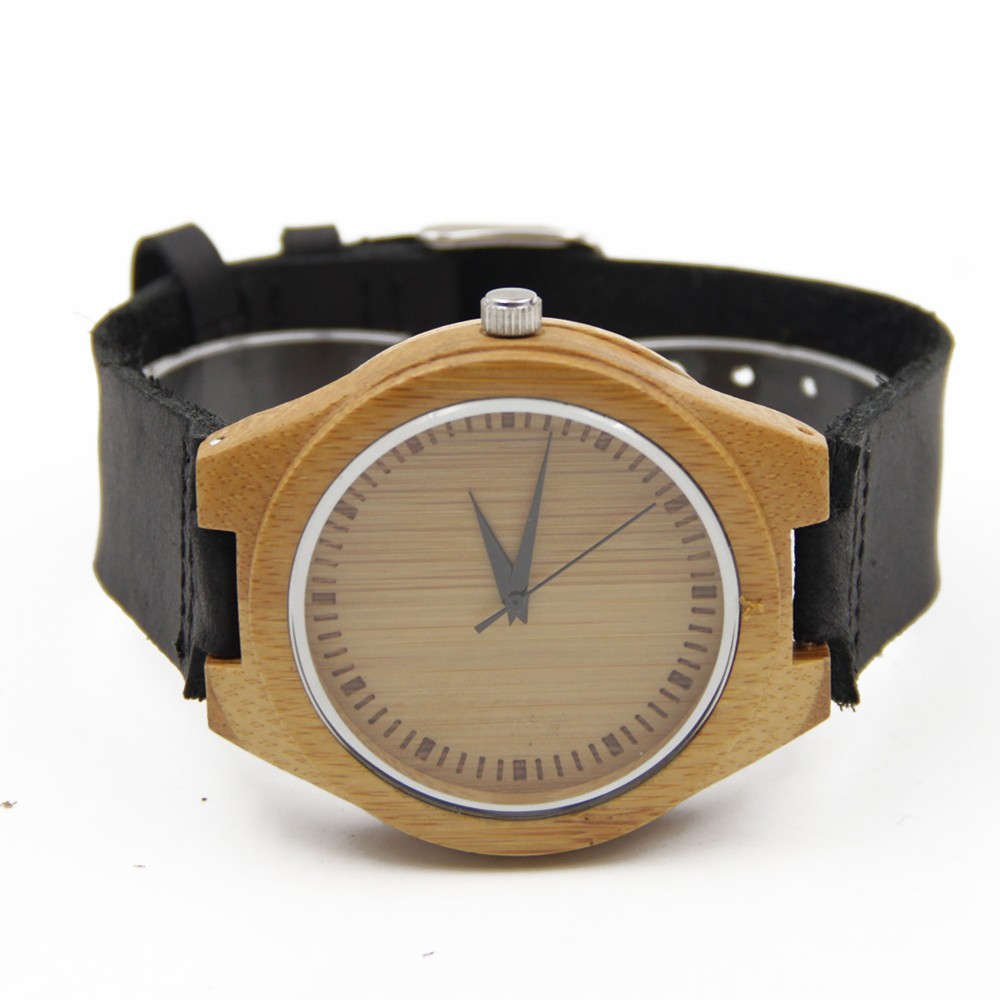 Новое поступление японский miyota 2035 движение наручные часы натуральная кожа бамбук деревянные часы для мужчин и женщин Подарки к рождеству