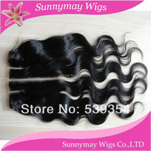 3 parting Sunnymay lace closure cheap grade 6a Peruvian virgin hair Top closure,body wave three part lace closure 5*5 in stock