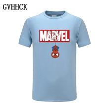 Nouveau été 3D fer Spiderman T-Shirt hommes Marvel Avengers hommes T-Shirt Compression Fitness à manches courtes marque T-Shirt hauts et t-shirts(China)