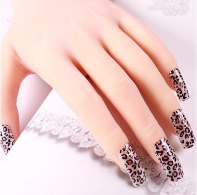 new fashion nail art decal manicure Five nail stickers free shipping(China (Mainland))