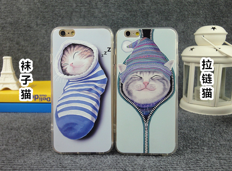 Lovely cartoon cat Back Case Cover For iPhone case 5 Socks cat pattern for iPhone 5S 5g Mobile Phone shell ASJK0213(China (Mainland))