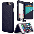 Newest Luxury Lady Make Up 3D Dual Layer Card Slot Wallet Mirror Case Cover For Sam