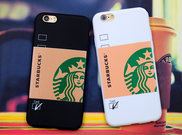 Brand New starbuck Coffee Girl Protective Hard Mobile Phone Case Cover For iphone 7 7Plus 5 5S SE 6plus 6s plus 6 6S Cases(China (Mainland))