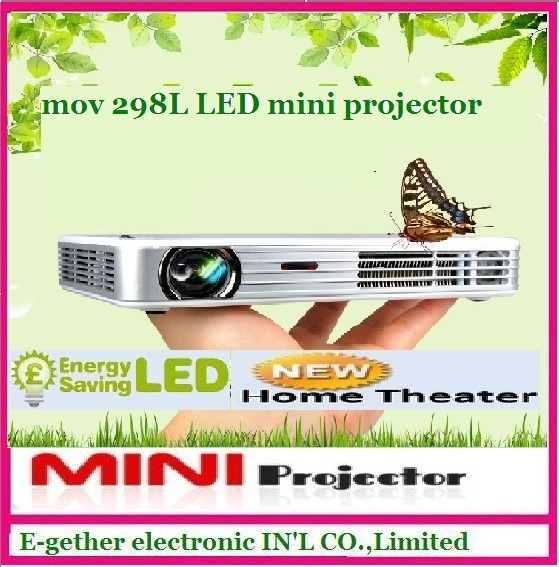 Hot sale for mov298L LED mini projector native 1280*800,mini DLP projector Full Hd 1080 video projector