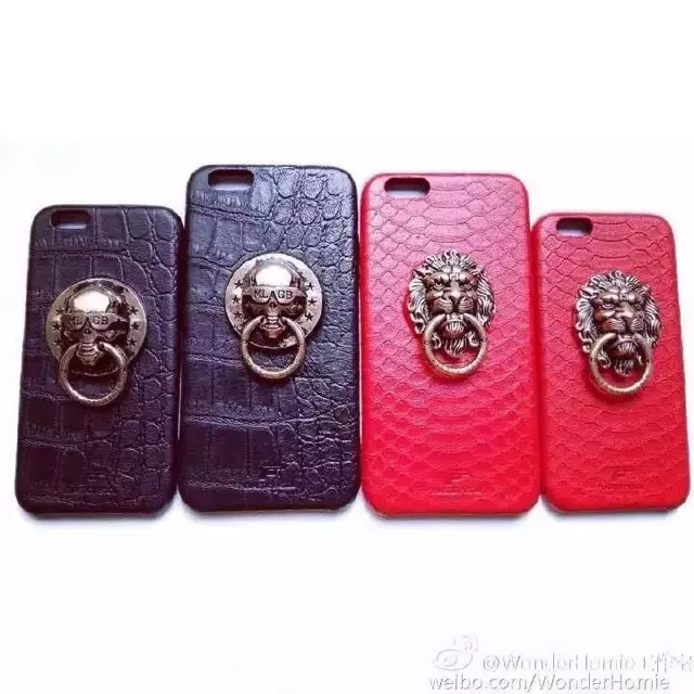 Luxury NPC Snake Leather Texture MLGB Skull Head Chinese Style Knocker mobile phone Case Cover For Iphone 6 6G 4.7inch(China (Mainland))