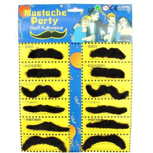 Halloween Dayses cos fake beard funny fake Moustache 10 card / bag(China (Mainland))