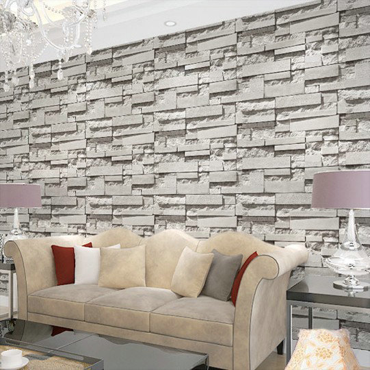 Special price korean pvc gray stereo imitated brick for 3d brick wall covering