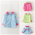 Children s clothing 2015 spring new arrival child clouds hooded double breasted trench medium long style