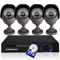 DEFEWAY 2TB HDD recording 8CH CCTV security camera system 1400 TVL video surveillance DVR kit 720P