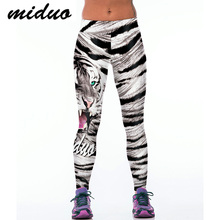 Miduo Tiger Print Women yoga Pants Sport Fitness Running Tights Compression Trousers Sportswear Gym Leggings Yoga