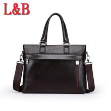 2016 hot brand men's business casual briefcases leather briefcase men shoulder messenger bags genuine bolsa handbag high quality(China (Mainland))