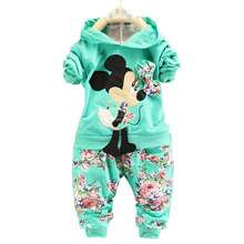 2014 new fashion Spring Autumn baby girls Sport suit set long sleeve children hoodies pants clothes