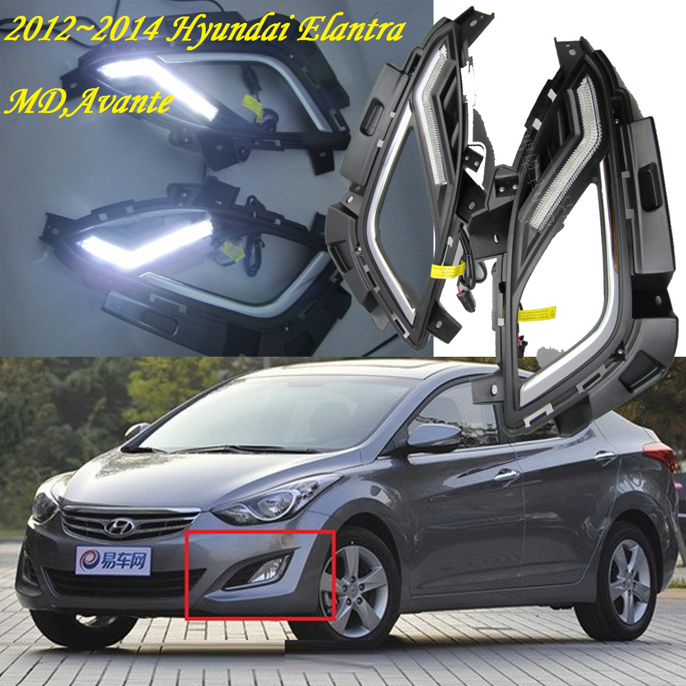 Free ship!! 2012 Hyundai Elantra HP Daytime light,2PCS/SET+Wire of harness,12W,12V,6000~7000K,super good quality!<br><br>Aliexpress