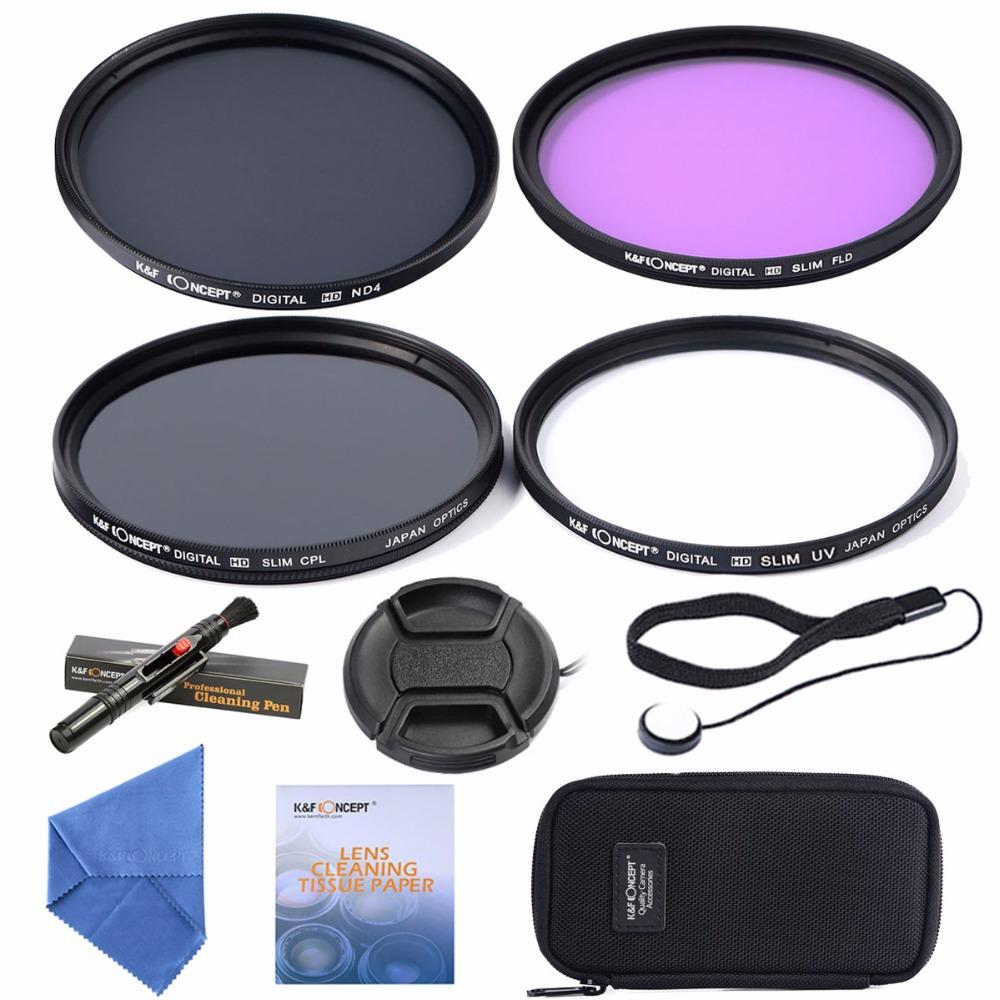 72mm UV CPL FLD ND4 +Cleaning kits+ pouch bag Filter Kit Lens Filter Kit for Nikon D7100 D7000 D3100 D3000 Dslr Camera(China (Mainland))