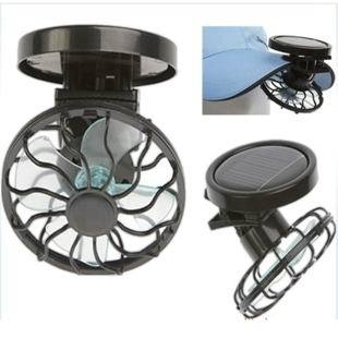 Wholesale Free Shipping 1 Piece New Solar Cell Fan Sun Power Energy Panel Clip-on Cooling Hat Cooler Fan For Camping Hiking(China (Mainland))