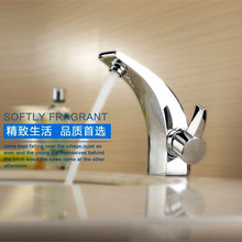 Buy Free Ox horn solid brass bathroom basin sink faucet polished chrome hot cold basin sink mixer taps for $37.54 in AliExpress store