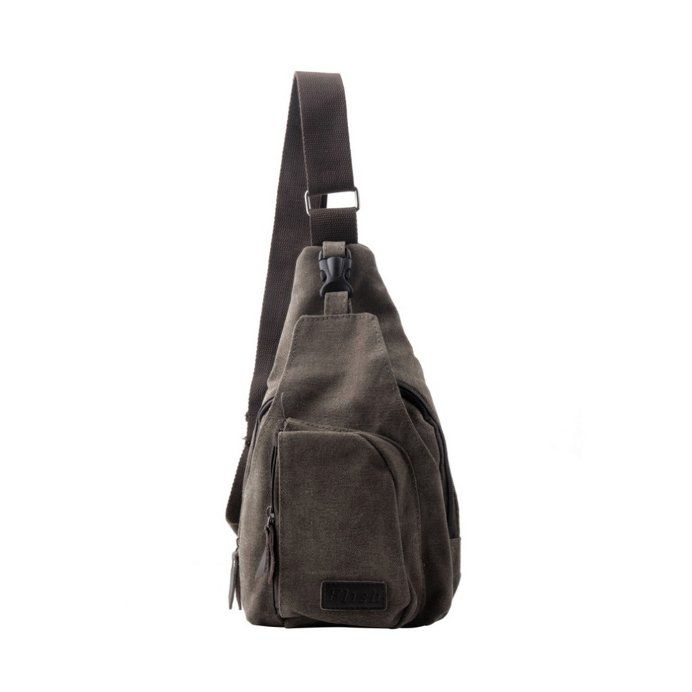 Fashion Vintage Men Messenger Bags Casual Outdoor Travel Hiking Sport Casual Chest Canvas Male Small Retro